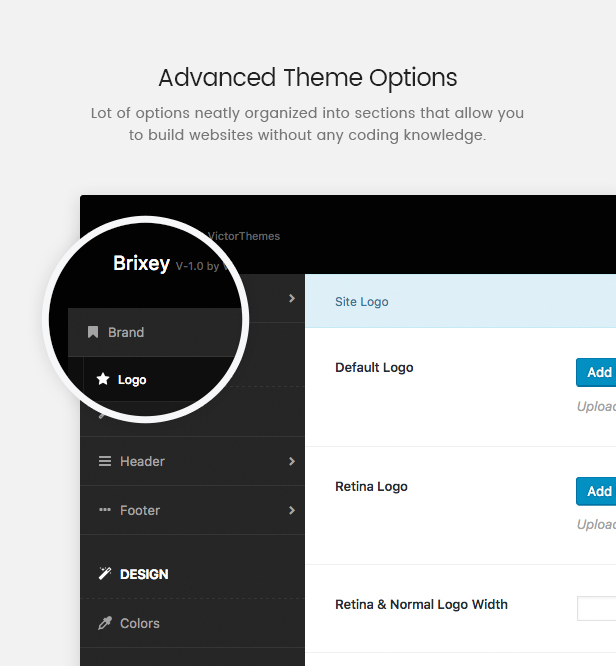Brixey Theme Options