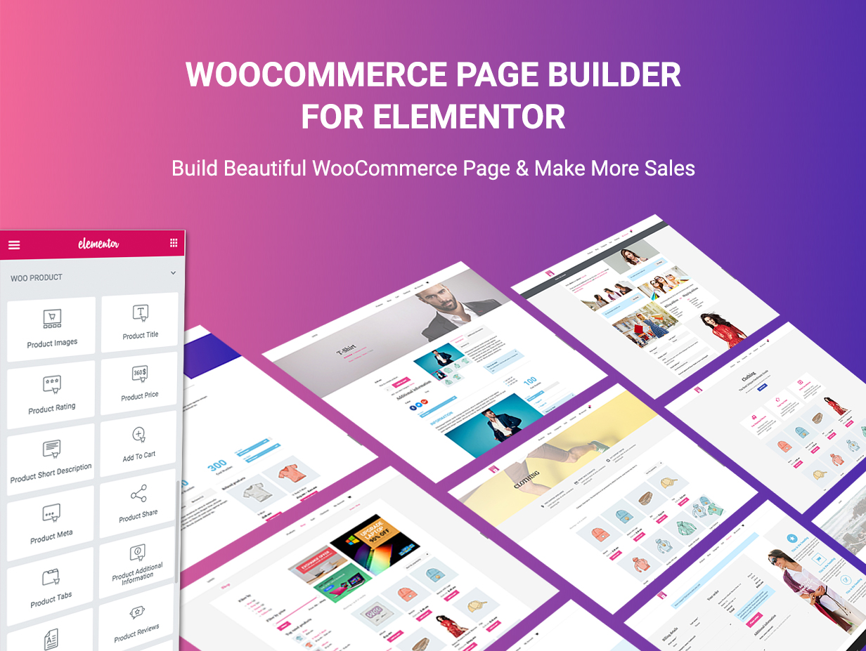 WooCommerce Page Builder For Elementor - 1