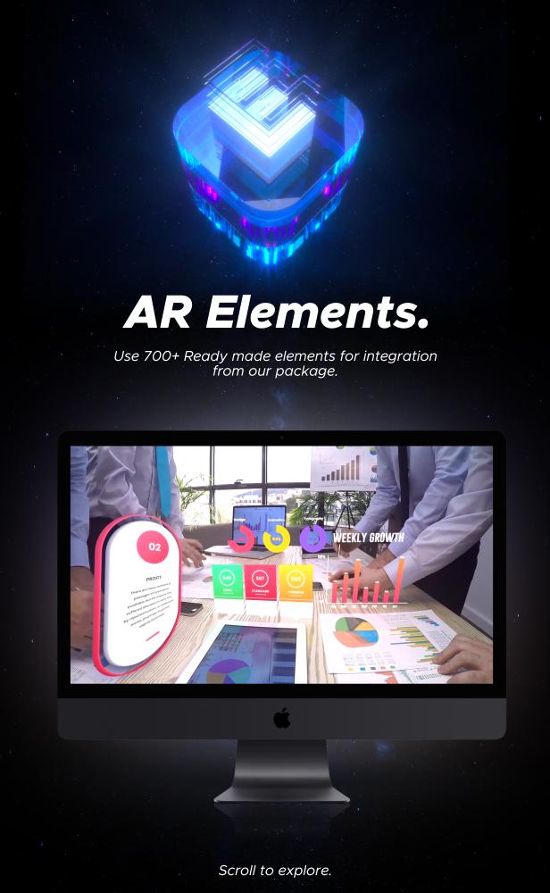 AE脚本-500多个人工智能高科技科幻HUD元素RGB光束烟雾描边效果AR动画工具包 AR Tools for Win/Mac破解版 V3插图24