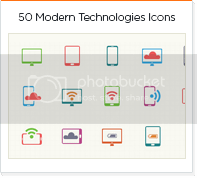 50 modern technologies icons