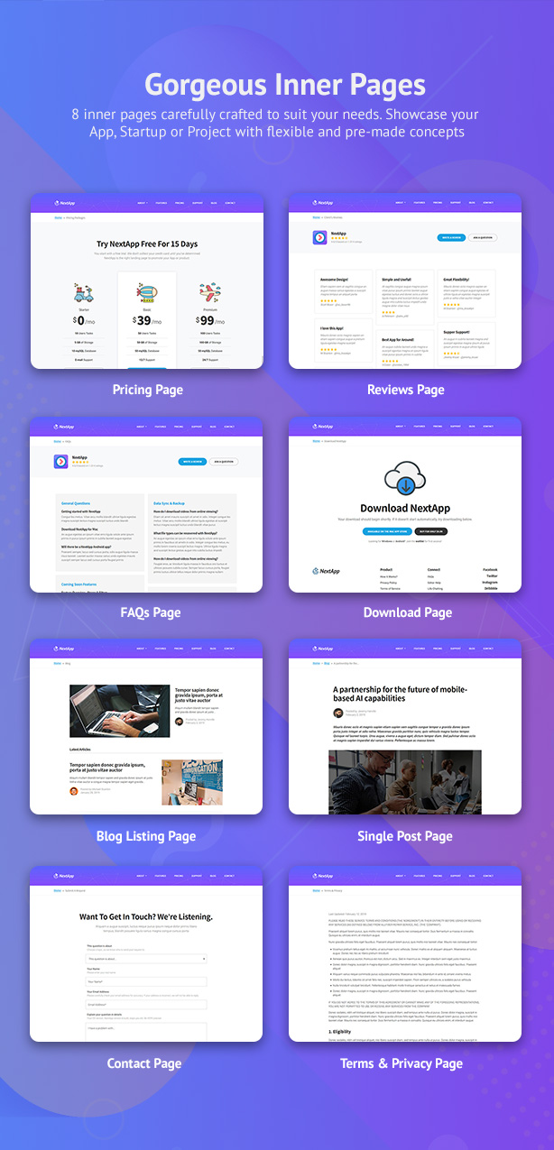 NextApp - App Landing WordPress Theme - 5