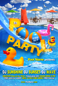 Summer Party Flyer Template - 1