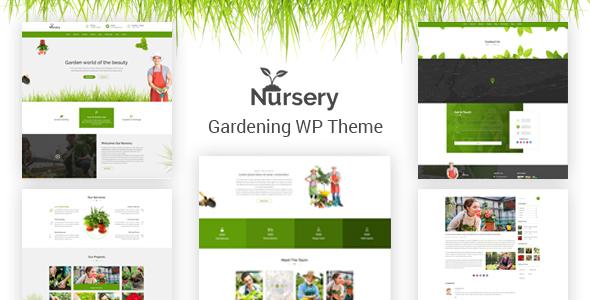 Nursery - Gardening and Landscaping WordPress Theme