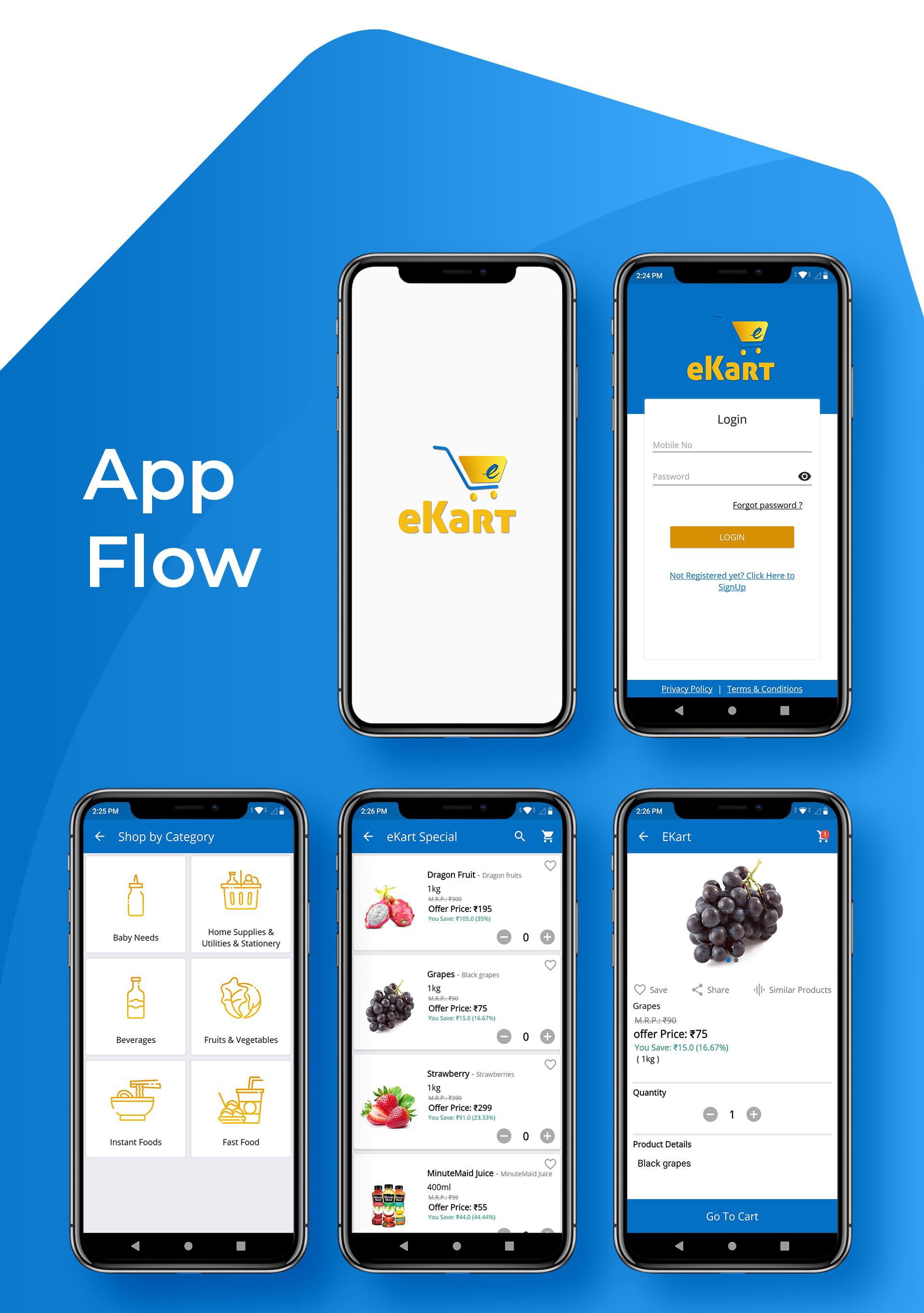eKart - Android e-commerce app - 7