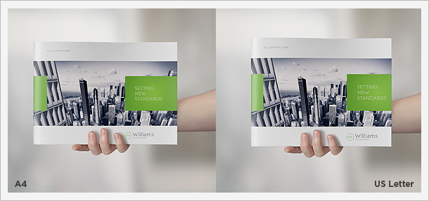 Landscape Brochure MockUp Set By Punedesign  Graphicriver