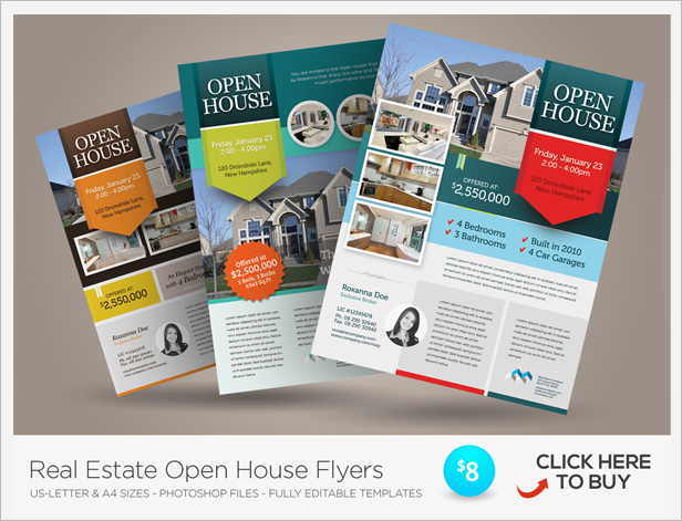 Premium real estate flyers by kinzi21 graphicriver related template real estate open house flyers pronofoot35fo Gallery