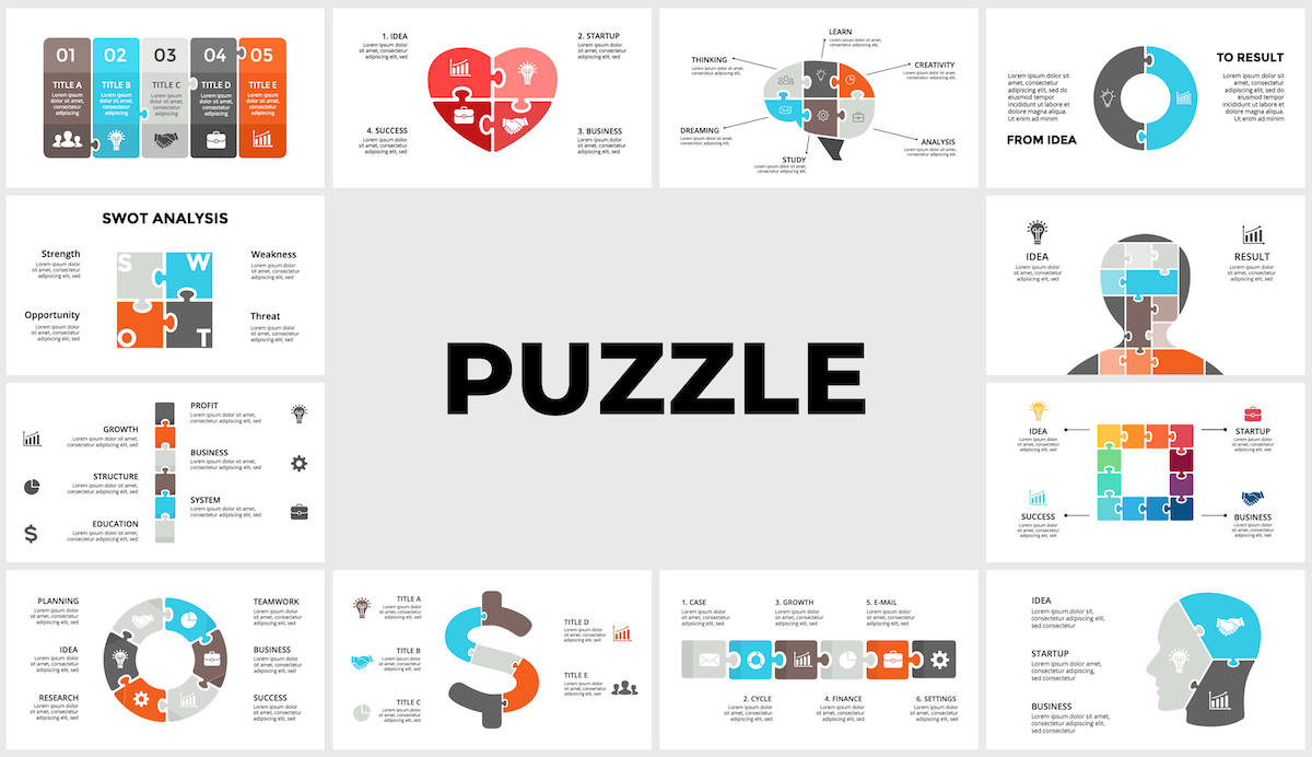 Huge Infographics Bundle! Lifetime Updates! PowerPoint, Photoshop, Illustrator. - 211