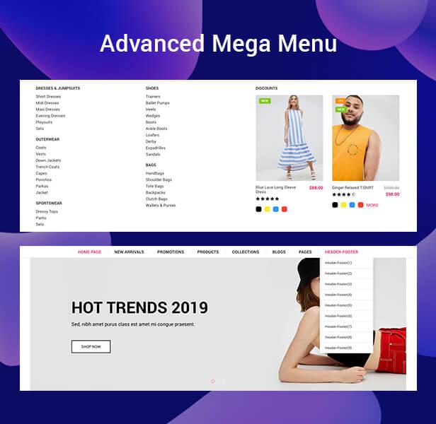 shopify mega menu
