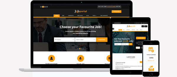 Job Portal Html Template Responsive View
