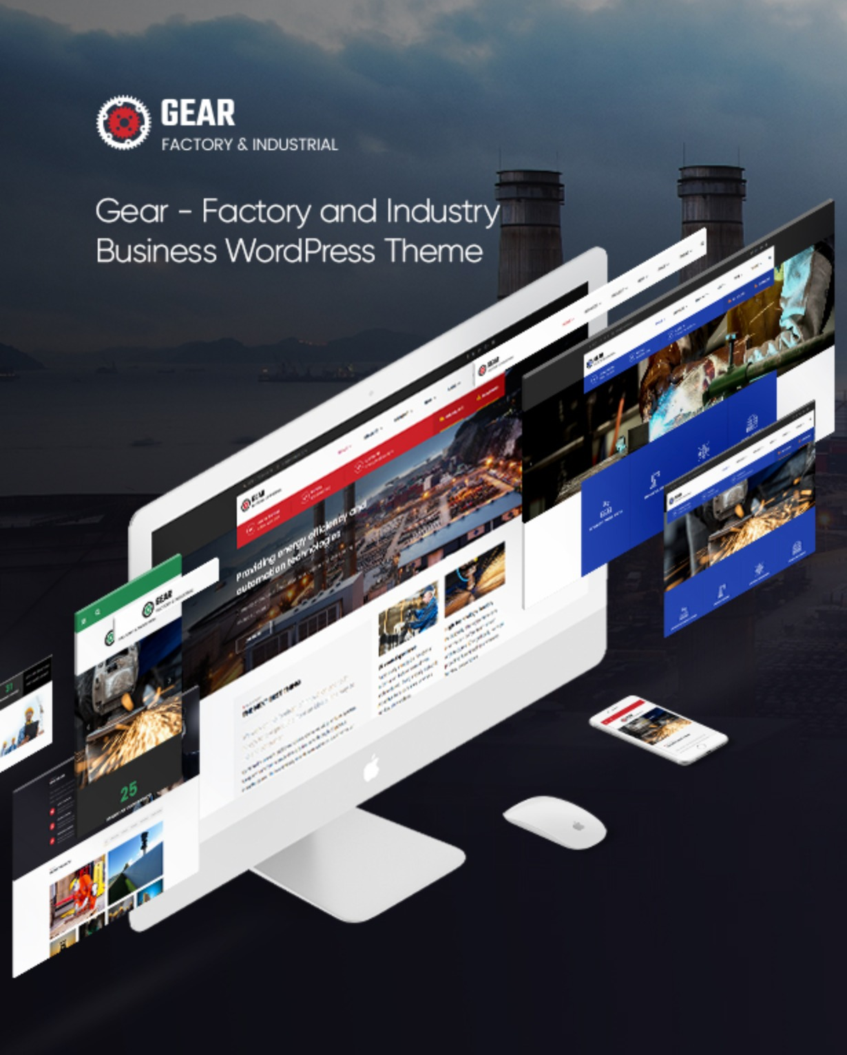 Gear - Factory and Industry Business WordPress Theme