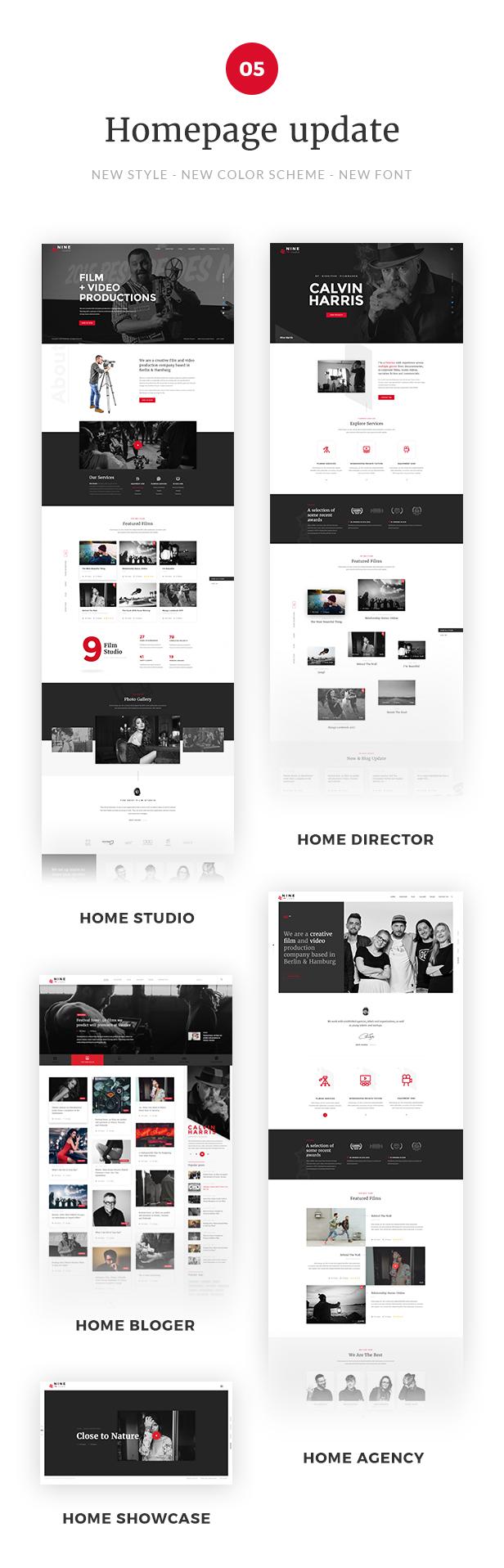 Filmmaker Director Film Studio WordPress Theme - 5 New Homepages