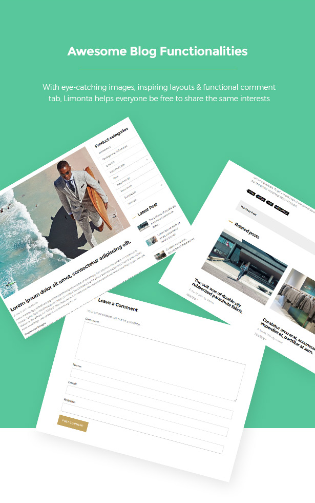 Blogs for Sharing Limonta - Modern Fashion WooCommerce WordPress Theme