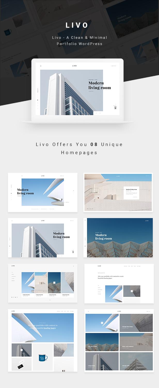 Livo - A Clean & Minimal Portfolio WordPress Theme - 1