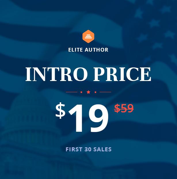 Politix - Political Campaign WordPress Theme - Huge Sale - $19