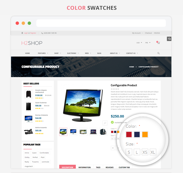 H2shop - Color Swatches