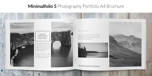 Minimalfolio 5 Photography Portfolio A4 Brochure