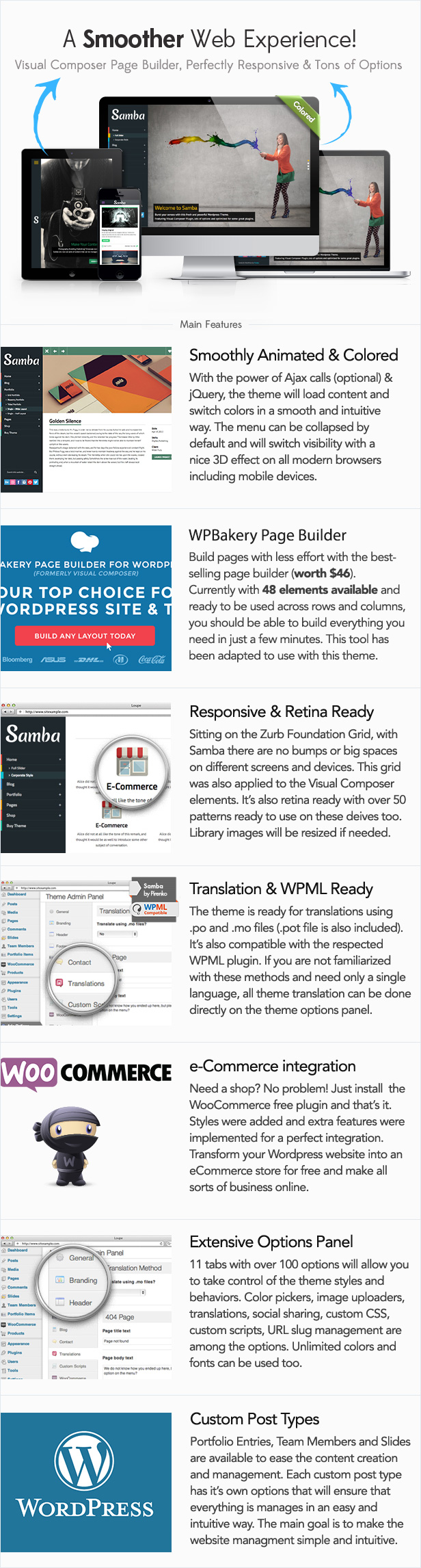 Samba - Colored WordPress Theme - 2