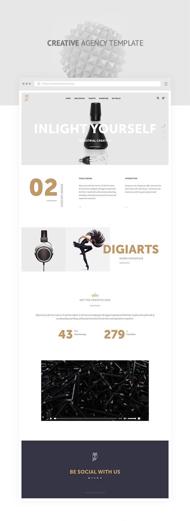 OWL Digital - Responsive Creative Agency Muse Template