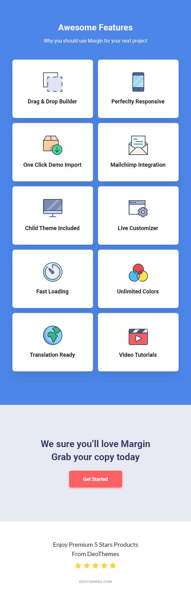 Margin - Elementor Marketing and SEO WordPress Theme