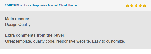 Eva - Responsive Minimal Ghost Theme - 3