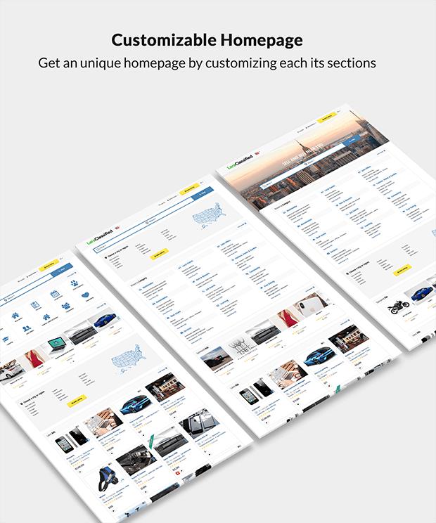 Customizable Classified Website