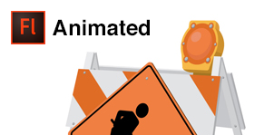 Under Construction Barricades with Animated Guy