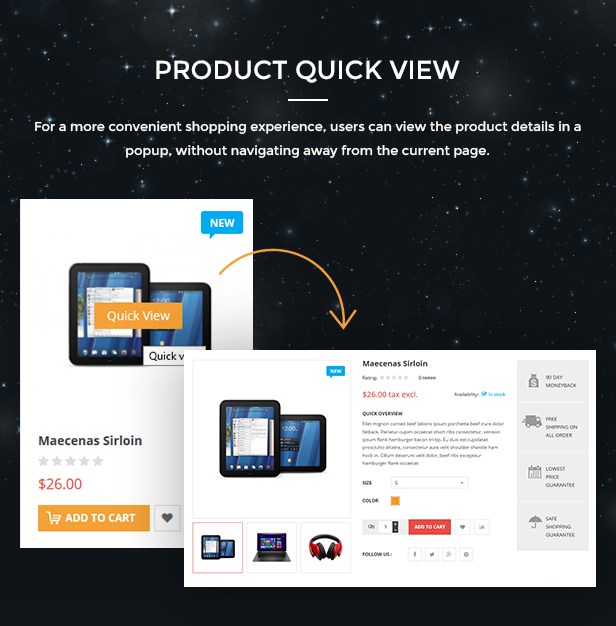 Market - Responsive Multipurpose Prestashop Theme - Quickview