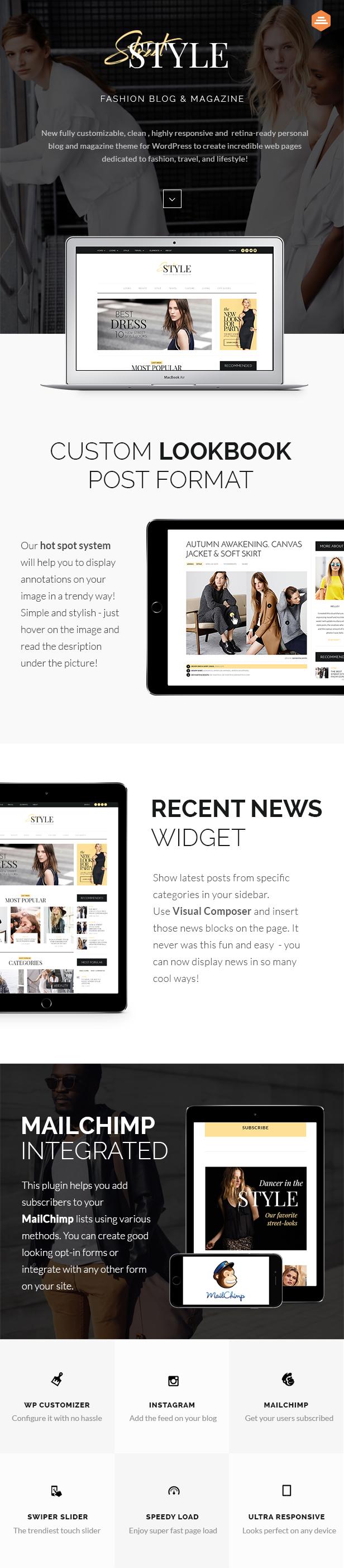 Street Style - Fashion & Lifestyle Personal Blog WordPress Theme - 1