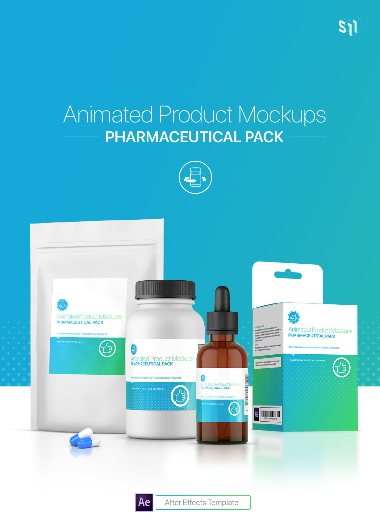 Animated Product Mockups - Pharmaceutical Pack - 1