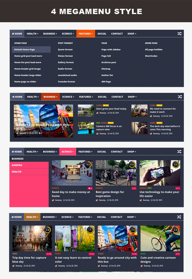 NanoMag - Responsive WordPress Magazine Theme - 4