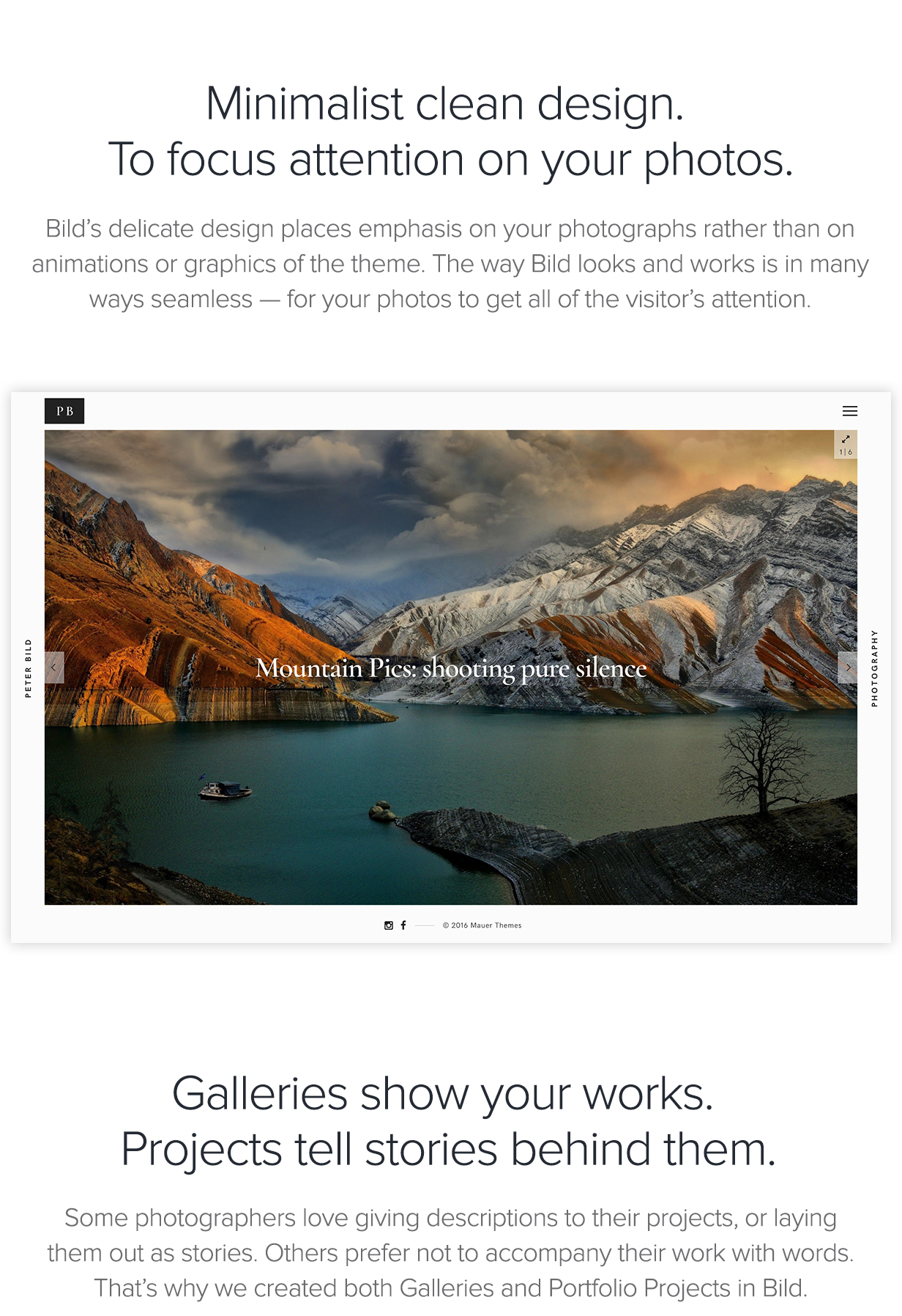 Bild — A Focused WordPress Photography Theme - 1