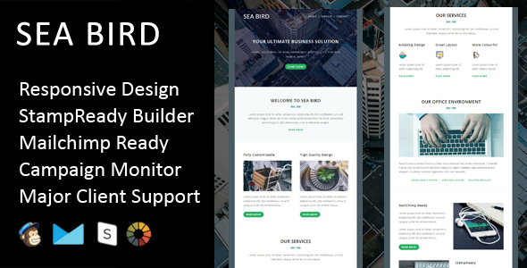 Primy - Multipurpose Responsive Email Template with Stampready Builder Access - 1
