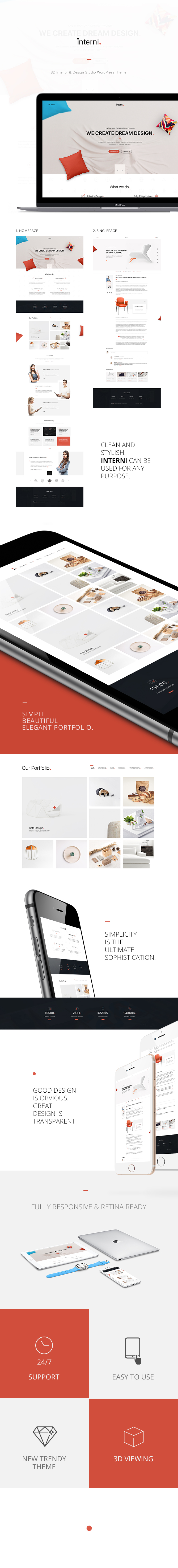 Interni 3d interior design studio wordpress theme by for Interni design studio