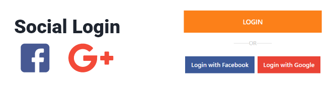 Social Login with Google and Facebook