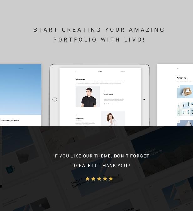Livo - A Clean & Minimal Portfolio WordPress Theme - 7