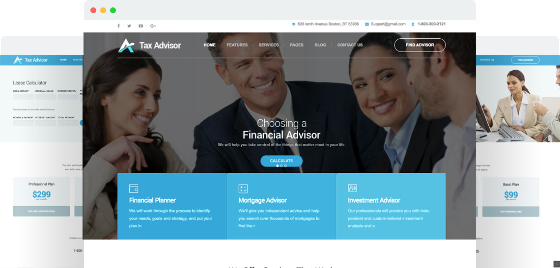 Tax Advisor - Financial Consulting/Attorney WordPress Theme