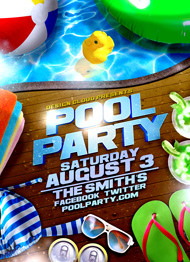 ... Design Cloud: Pool Party Flyer Template ...