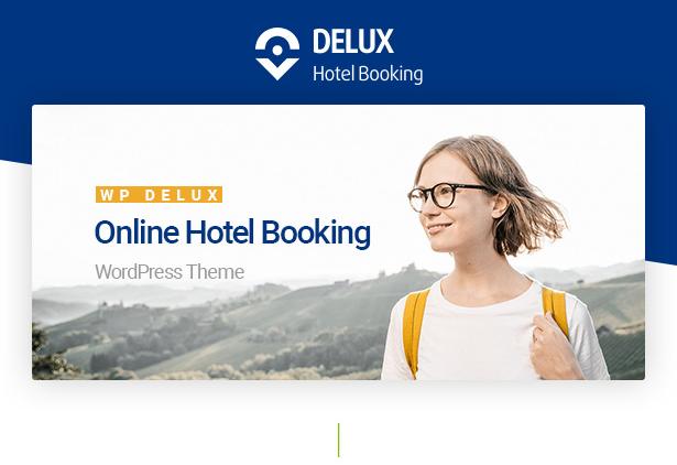 Modern & Powerful Delux Online Hotel Booking WordPress Theme