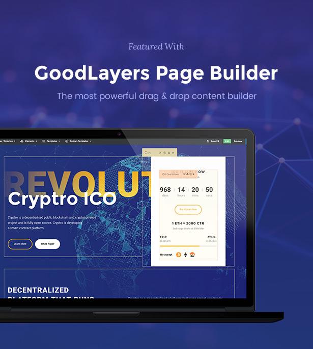 Cryptro - Cryptocurrency, Blockchain , Bitcoin & Financial Technology WordPress Theme - 5