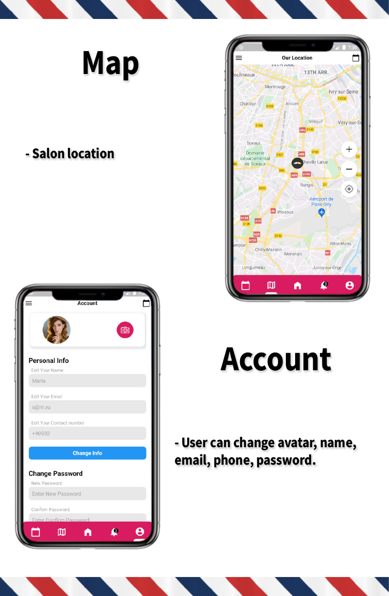 Single Barbershop, Salon Booking App - Full Flutter Application with Admin Panel (Android+iOS) - 4