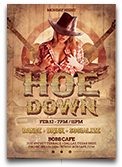 Hoedown Country Flyer Template