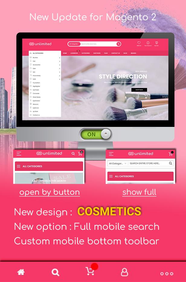 New design - Cosmetics