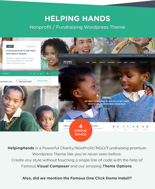 Charity WordPress Theme | HelpingHands - 4