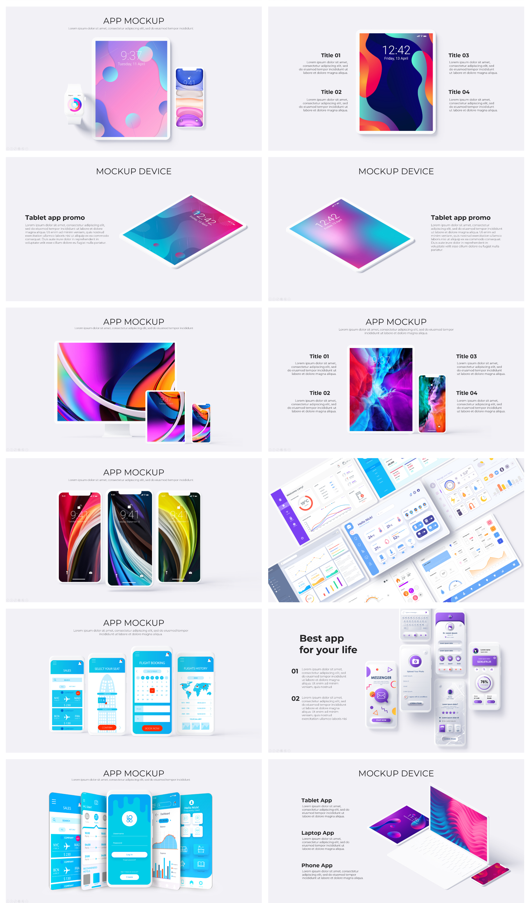 Multipurpose Infographics PowerPoint Templates v.5.0 - 100