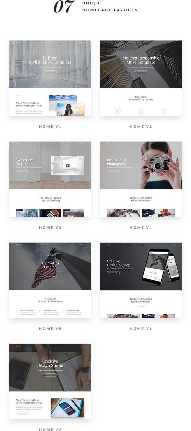 Refined - Responsive Multi-Purpose Muse Template - 4