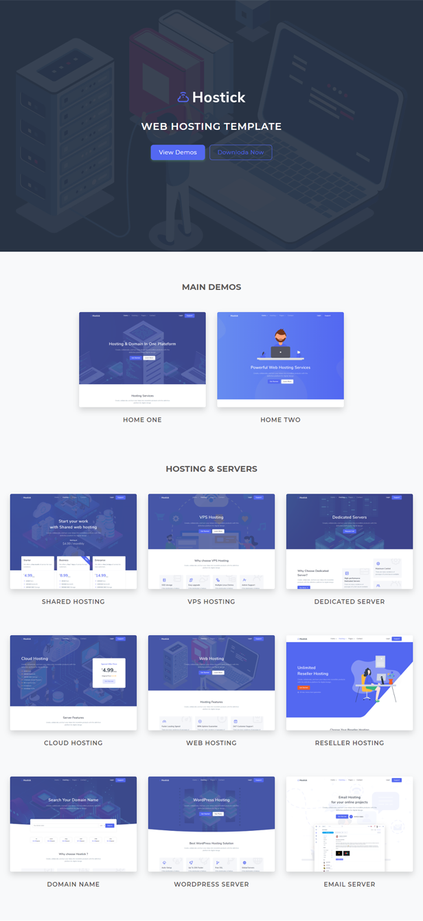 Hostick - Web Hosting, Web Server & Domain HTML5 Template - 1
