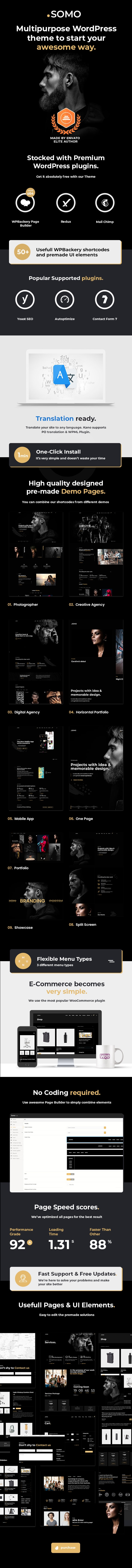 Somo - Creative MultiPurpose WordPress Theme - 4