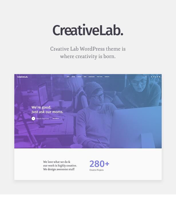 Creative Lab 1.0.6 – Creative Studio Portfolio & Agency WordPress Theme