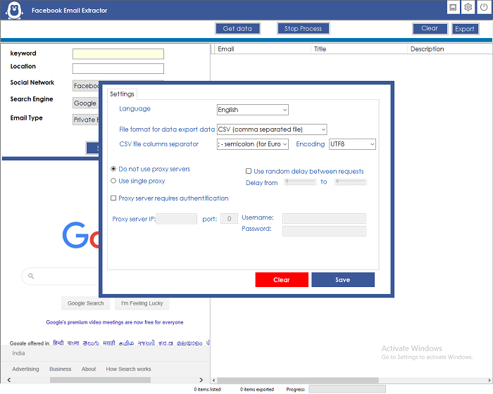 Facebook Email Extractor - 4