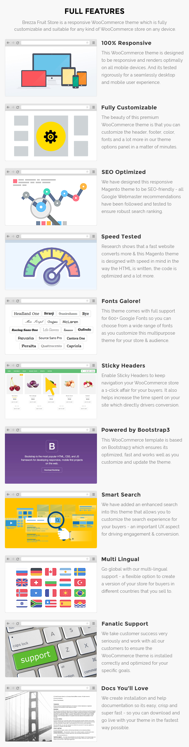 Fruits store WooCommerce template